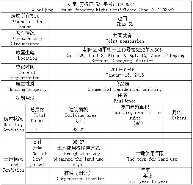 中译杭州翻译公司房产证内页翻译模板.png